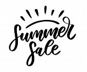 Vector Word Sale .letters Made Of Flowers And Leaves Summer Sale Holiday Flyer Banner Poster Summer  poster