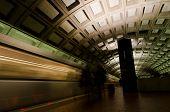 Постер, плакат: Станция метро интерьер в Вашингтоне округ Колумбия Соединенные Штаты