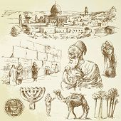jerusalem - hand drawn set