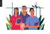 Medical Insurance -internship Jobs -modern Flat Vector Concept Digital Illustration - Young Medical  poster