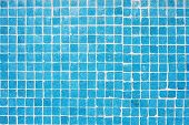 tile texture background of bathroom or swimming pool tiles on wall