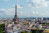 Paris City In France With Eiffel Tower Iconic And Symbol Of France In Summer poster