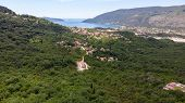 Beautiful View Of The Traditional Houses In The Mountainous Terrain In Montenegro. poster