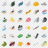 Best Body Icons Set. Isometric Style Of 36 Best Body Vector Icons For Web For Any Design poster