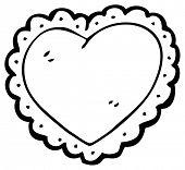 foto of frilly  - cartoon frilly heart - JPG