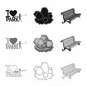 Vector Design Of Urban And Street Icon. Collection Of Urban And Relaxation Stock Symbol For Web. poster