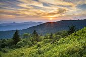 Blue Ridge Parkway Sunset Cowee Mountains Scenic Landscape