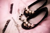 picture of wench  - Beautiful accessories and shoes on a white background - JPG