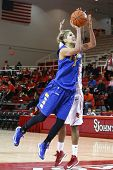 JAMAICA, NY-JAN 2: Delaware Blue Hens guard Elena Delle Donne (11) goes up for a shot against the St