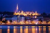 Fisherman's Bastion on the Buda Castle hill by Danube River in Budapest, Hungary
