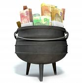 South African Potjie Filled With Rands