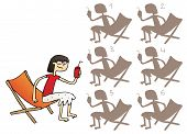 Постер, плакат: Girl With Drink Mirror Image Visual Game