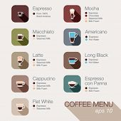 picture of latte  - Coffee vector icon set menu - JPG