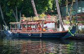picture of alleppey  - Boat in backwaters in alappuzha Kerala India