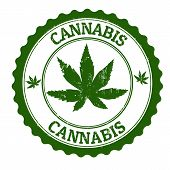 Cannabis-Stamp