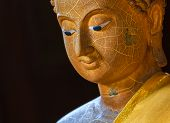 foto of gautama buddha  - Picture of Buddha face this is in Thai temple - JPG