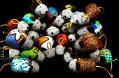 pic of fancy mouse  - Toy Mouse Made of Cotton Cloth on a Black Background - JPG