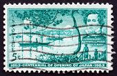 Postage Stamp Usa 1953 Franklin Tree, Plant