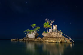 stock photo of willy  - willys rock in boracay on island philippines - JPG