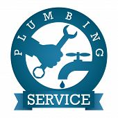 foto of plumbing  - symbol plumbing service for vector - JPG