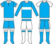 Different football Soccer uniforms. Vector