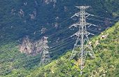 Powerline on mountain