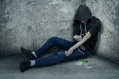 foto of drug addict  - Bad guy  - JPG