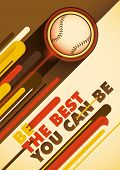 image of hitter  - Baseball poster with abstract design - JPG