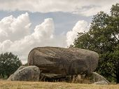 foto of megaliths  - Low point of view looking into the opening of these megaliths - JPG