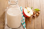 picture of cinnamon  - Apple Banana Cinnamon Smoothie in small jars - JPG