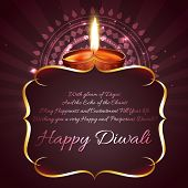 picture of diwali  - Vector diwali background with space for your text  - JPG
