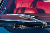 picture of wiper  - Windscreen and wiper blade of classic car - JPG
