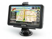 image of gps navigation  - GPS navigation system on white isolated background - JPG