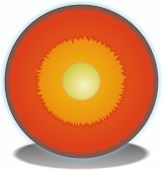 stock photo of outer core  - A Cross Section of the Earths Core - JPG