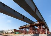 pic of girder  - The girders on the road construction site - JPG