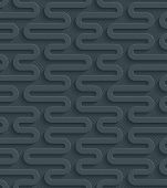 stock photo of paper cut out  - Dark gray perforated paper with cut out effect - JPG