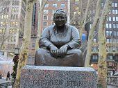 stock photo of stein  - Gertrude Stein Statue at Bryant Park in New York City - JPG
