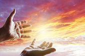 image of hand god  - Hands reaching for the sky - JPG