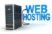 picture of intranet  - server and abstract web hosting  - JPG