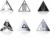 stock photo of tuning fork  - Set of corporate vector emblem templates - JPG