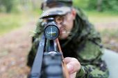 stock photo of army soldier  - hunting - JPG