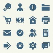 stock photo of internet icon  - Basic web icons set - JPG