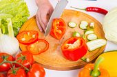 picture of cutting board  - Close - JPG