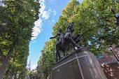 pic of paul revere  - Paul Revere Monument found in Bostons North End on the freedom trail - JPG