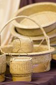 image of handicrafts  - Sticky Rice Container and Wickerwork Natural Handicraft - JPG