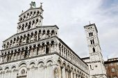 pic of michel  - The Romanesque Church of San Michele in Foro Lucca Tuscany Italy - JPG