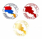foto of armenia  - made in Armenia stamp set on white background - JPG