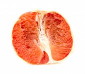 pic of flesh  - Tasty juicy pink grapefruit flesh close detailed studio shot - JPG