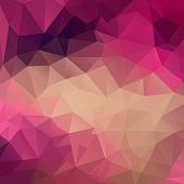 pic of polygon  - Polygon abstract texture in pink colors background for web design - JPG