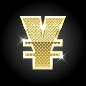 picture of yuan  - Vector metal gold letter Yuan  - JPG